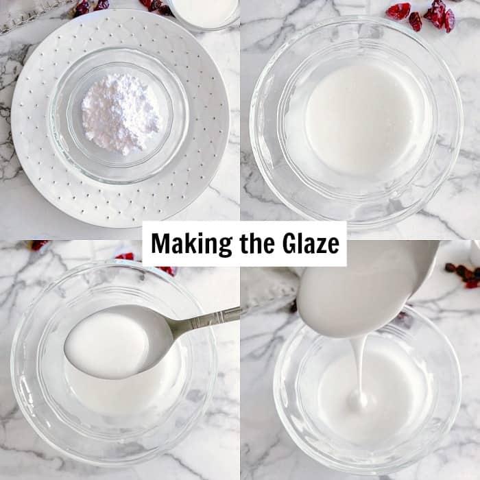 cranberry rolls glaze process