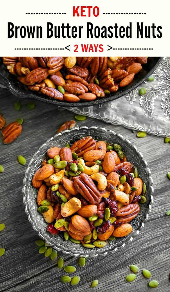 Keto Brown Butter Roasted Nuts