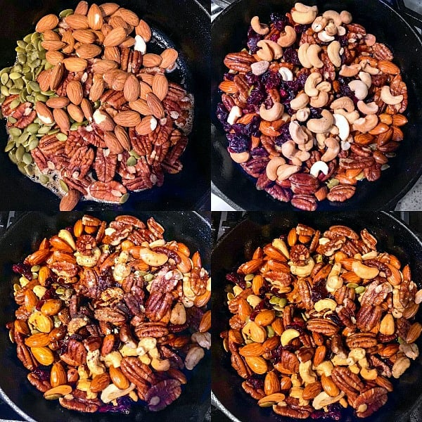 Keto Brown Butter Roasted Nuts process