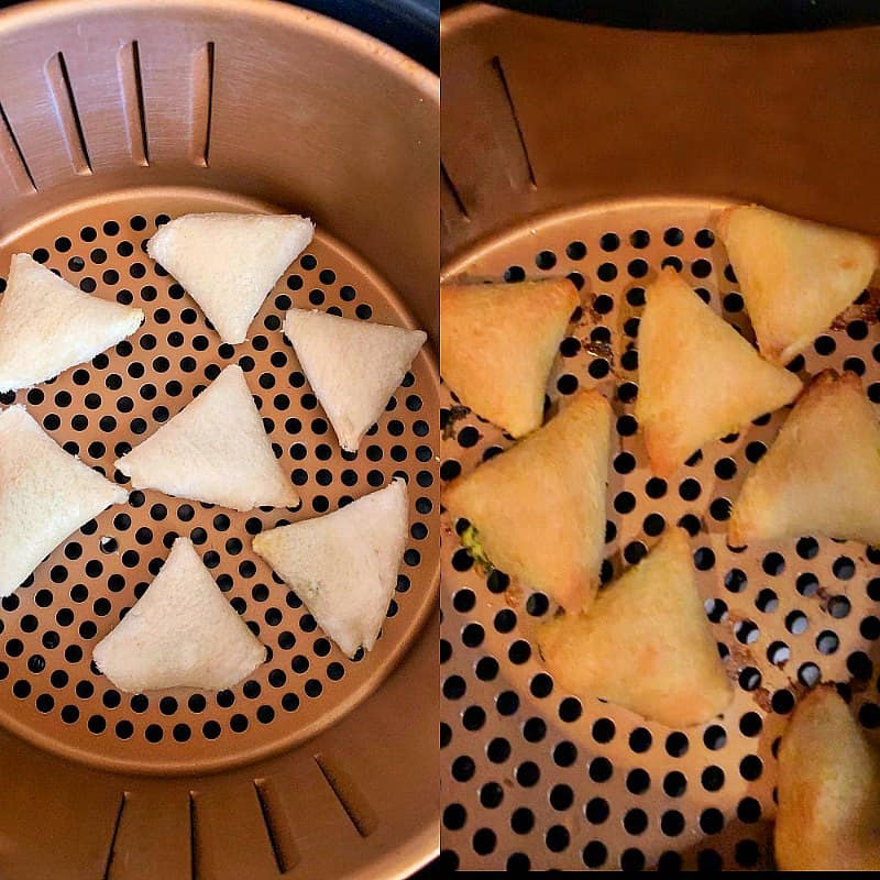 air fried bread samosa step-by-step