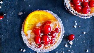 Cranberry Orange Christmas Margarita - Mistletoe Margarita