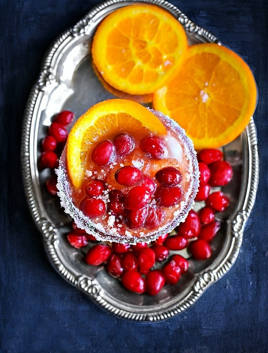 Cranberry Orange Christmas Margarita