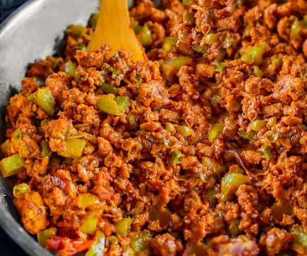 Sweet Spicy Ground Turkey Stir Fry