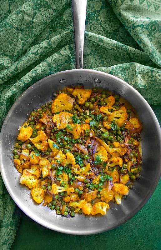 Indian Cauliflower Peas - Gobi Matar Masala