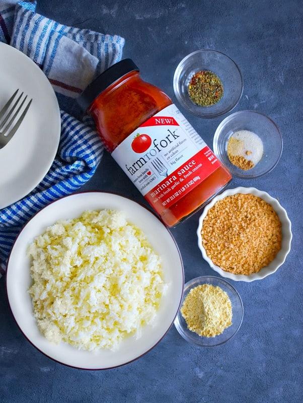 Ingredients for Cauliflower Meatballs