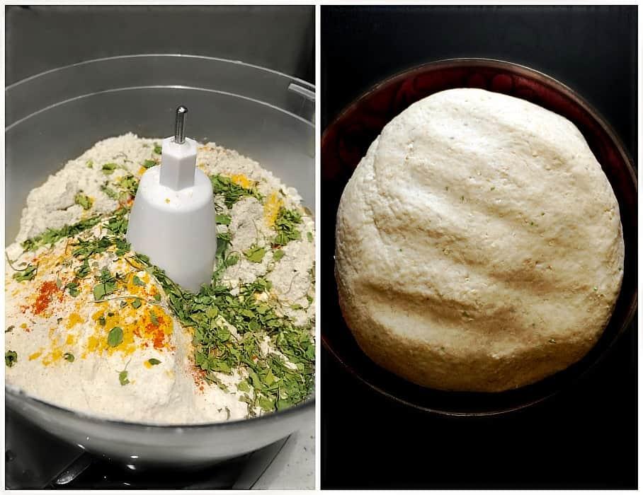 Methi Mathri Ingredients like flour, methi, spices