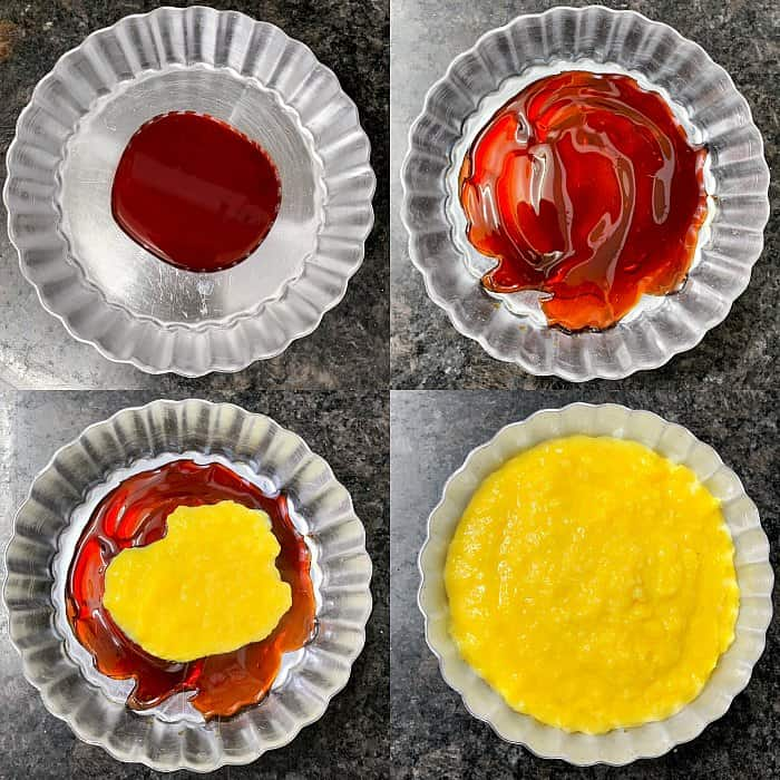 custard caramel bread pudding