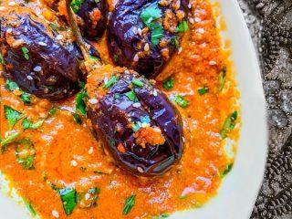 Hydrabadi Bagara Baingan Recipe - Indian Eggplant Curry