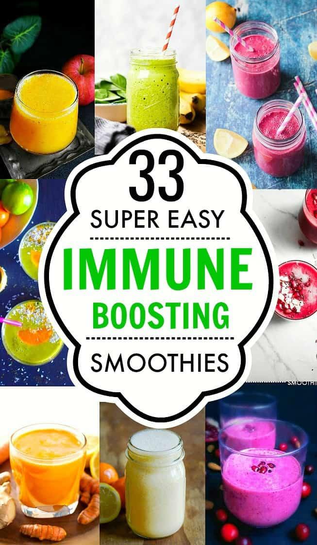 33 Immune Boosting Smoothies : #immunitysmoothie #immuneboosting