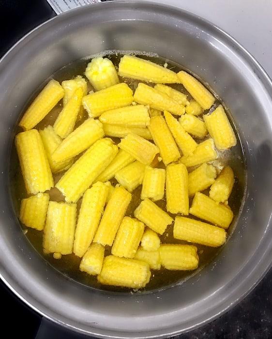 Boiled Baby Corn #boiledcorn