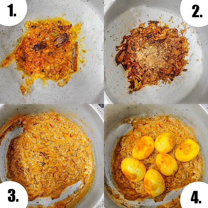 Egg Biryani Process to make masala and spices #eggbiryani #biryanrecipe #andabiryani