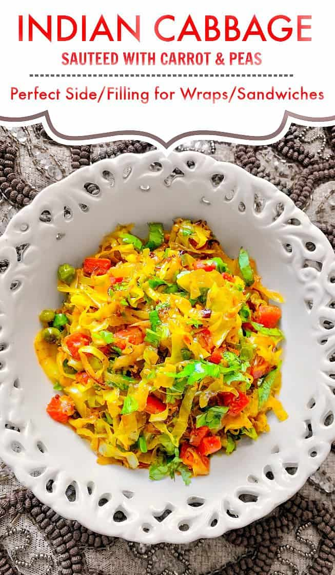 Sauteed Indian Cabbage With Carrot Peas V Gf