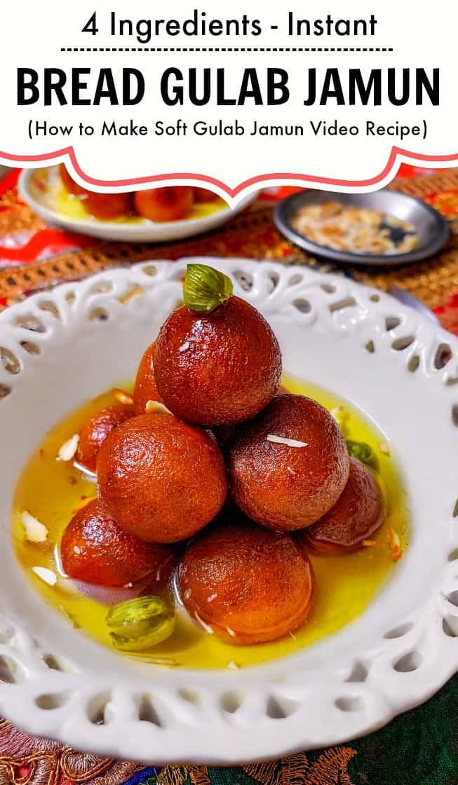 Instant bread gulab jamun recipe