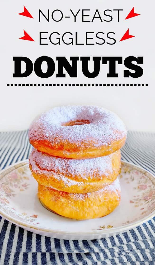 No Yeast Donut - Eggless Donut Recipe #egglessdonut #noyeastdonut #donutrecipe