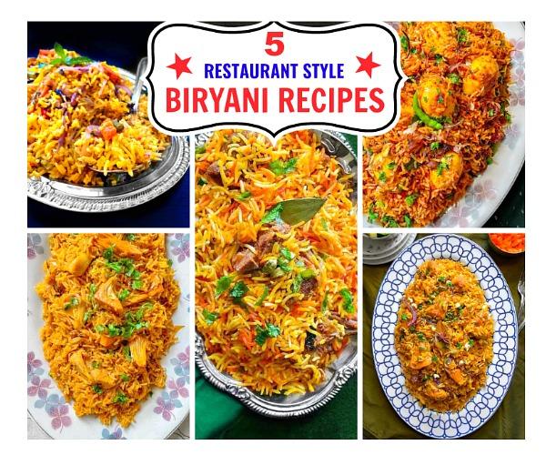 5 Restaurant Style Biryani Recipes