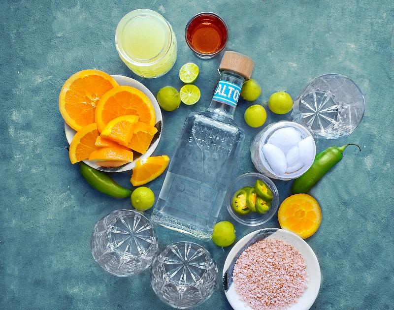 Spicy Citrus Margarita Ingredients