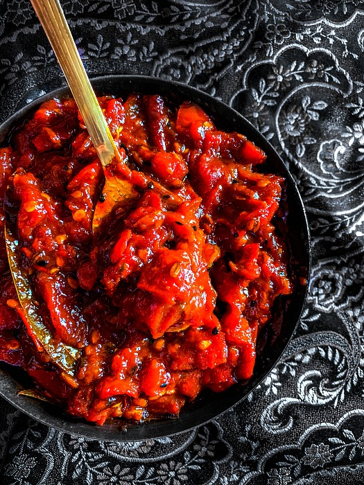 Sweet Spicy Tomato Chutney Recipe