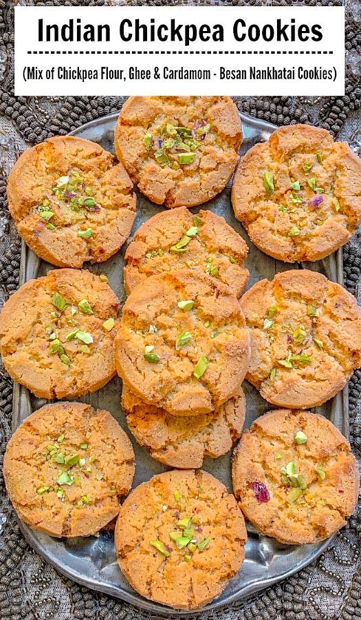 Chickpea Cookies - Besan Nankhatai