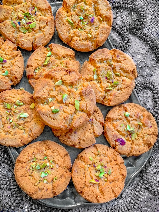 Besan Nankhatai Cookies