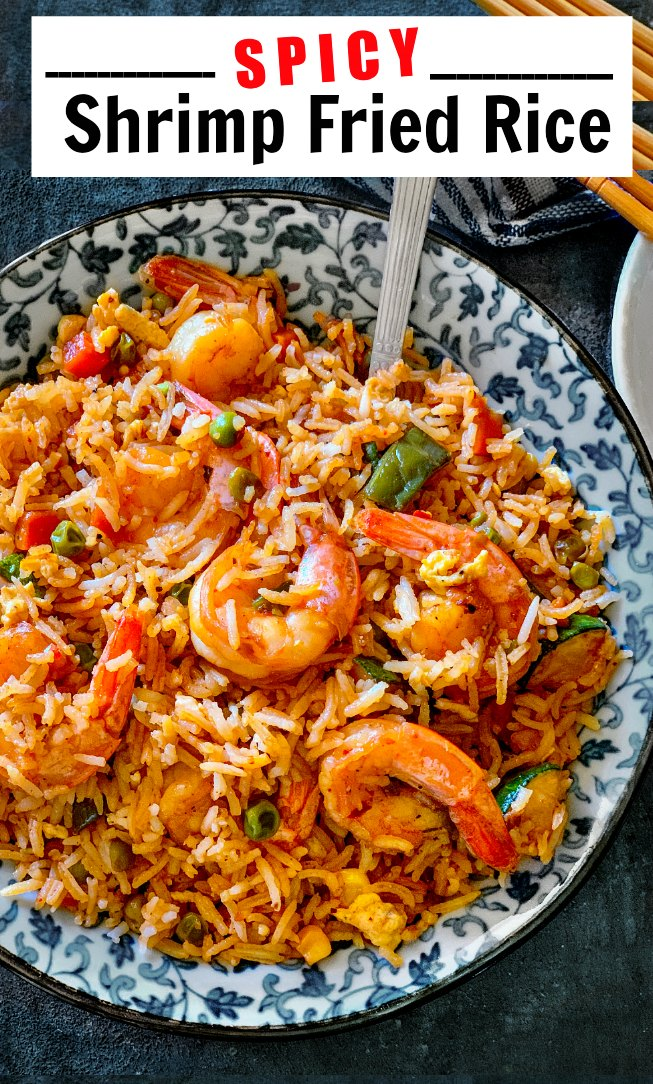 Spicy Shrimp Fried Rice with veggies