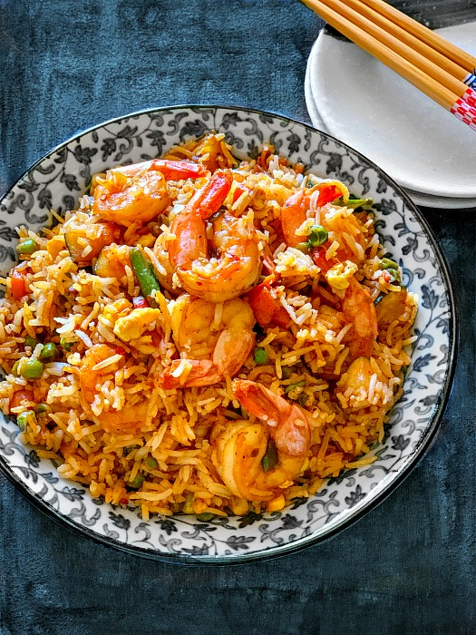 Easy Spicy Shrimp Fried Rice