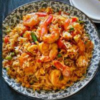 Spicy Shrimp Fried Rice Thai Veggies