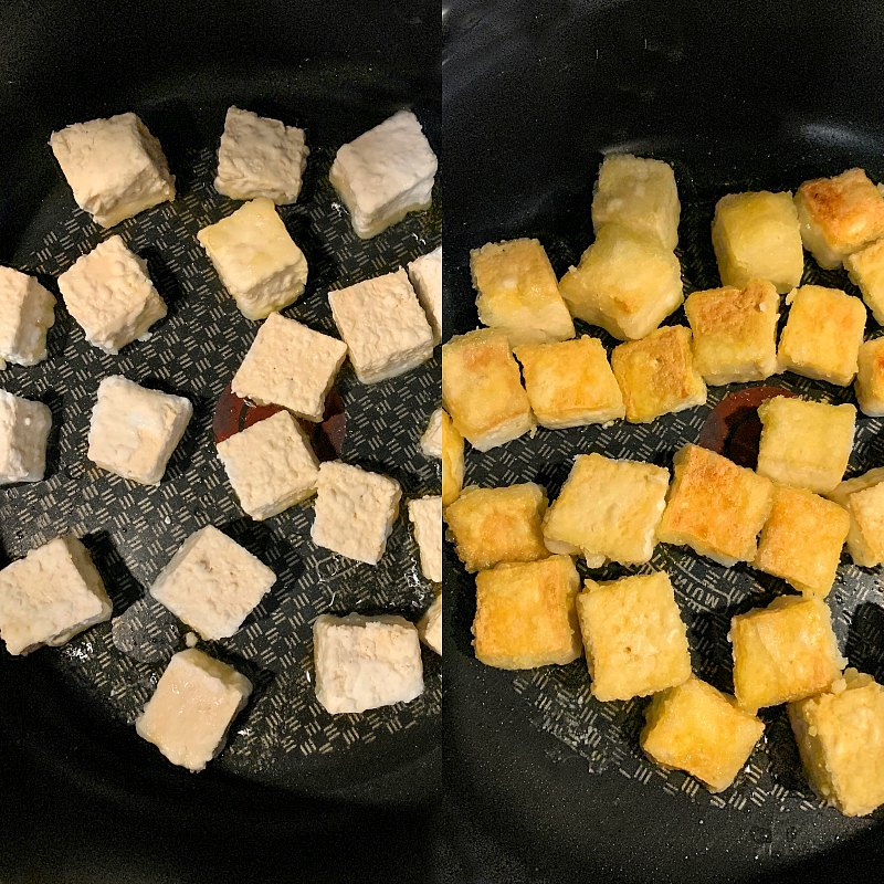Making Crispy Tofu -1