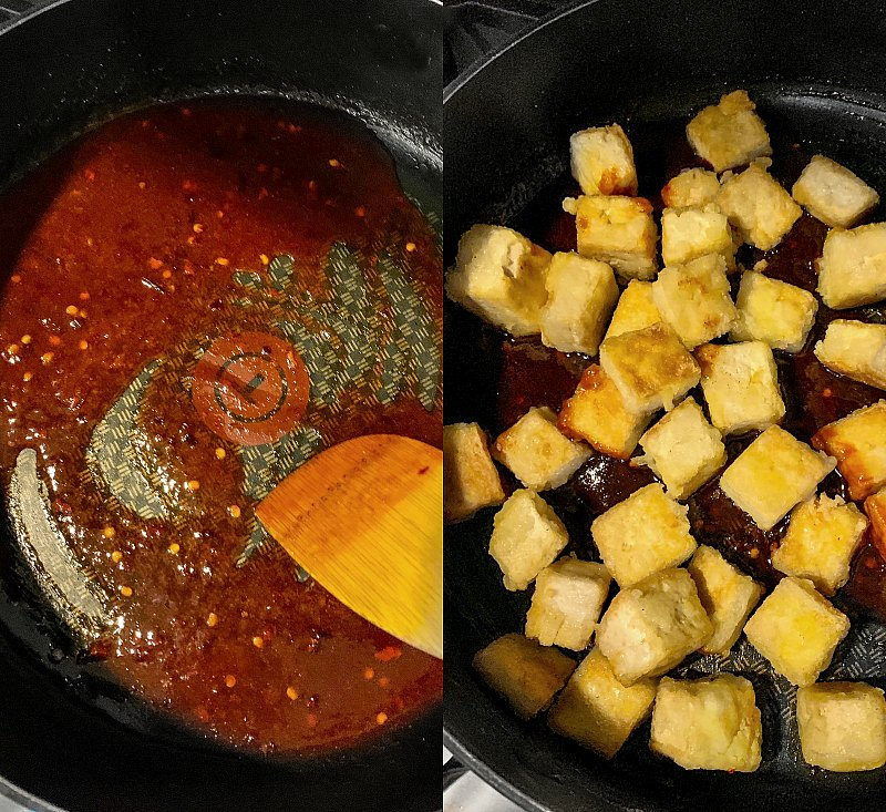 Tofu sauce together
