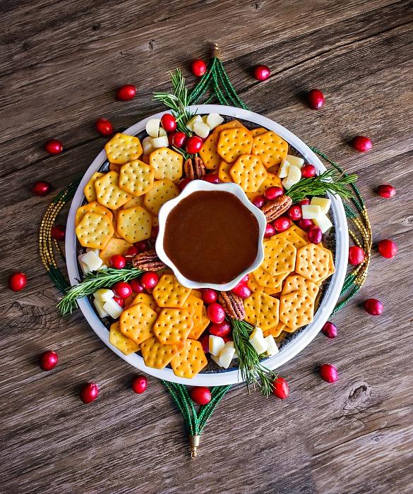 Christmas snack platter