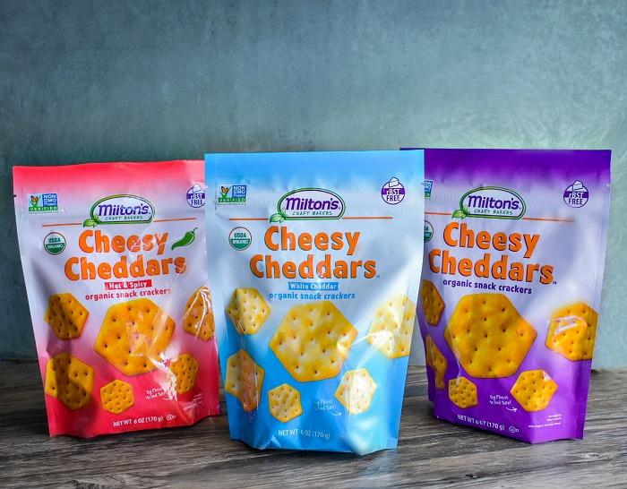 Miltons organic cheese crackers