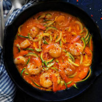 Thai Coconut Shrimp Curry with Zoodles
