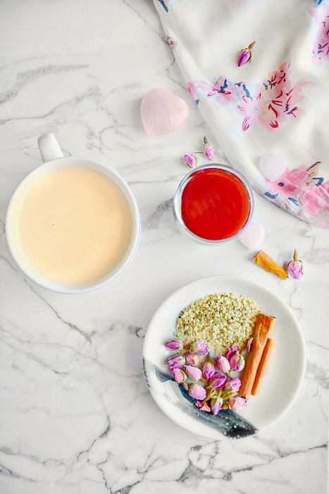 Cherry Vanilla Pink Moon Milk Recipe Ingredients
