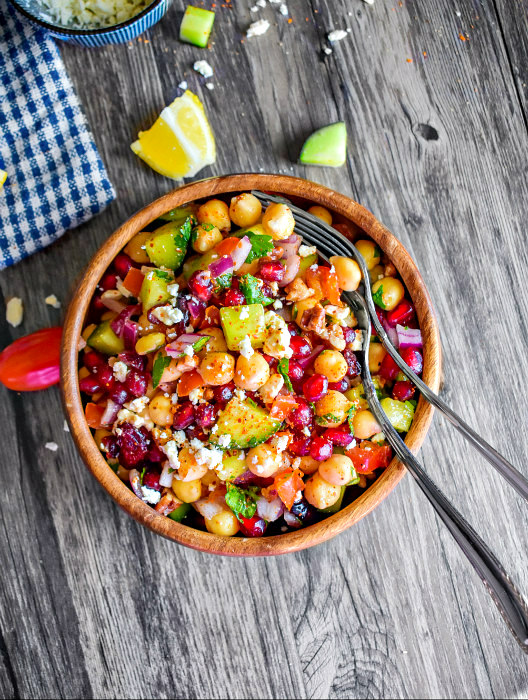 quick chole salad