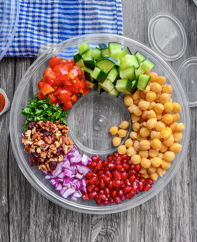 spicy indian chickpea salad