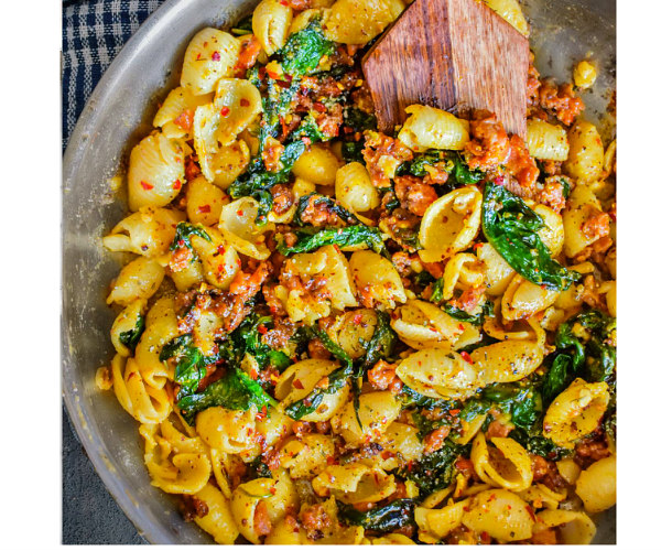 spicy-sausage-pasta-healthy-recipe