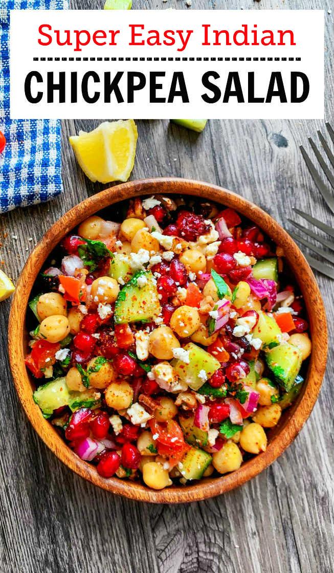 easy chickpea salad indian recipe