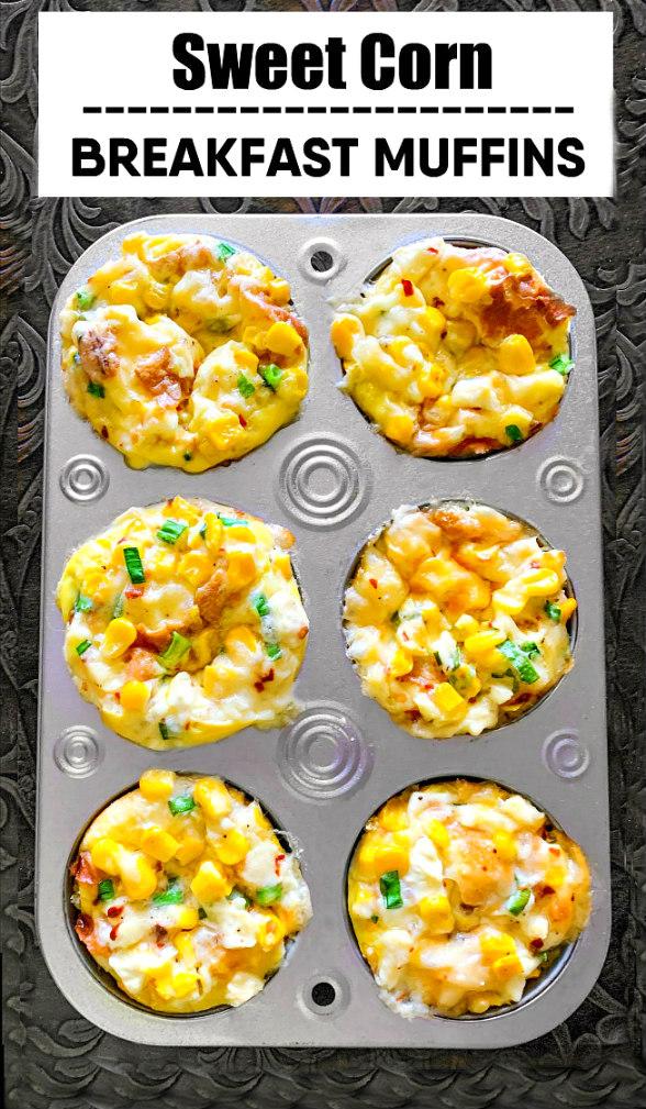 sweet corn breakfast muffins cup