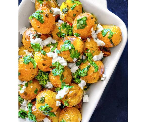 Air-Fryer Greek Potatoes recipe