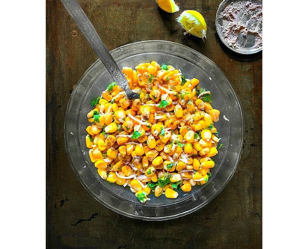 masala cheese corn chaat recipe