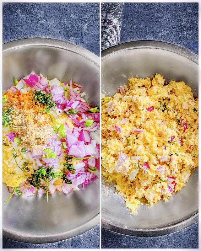 Cabbage Moong Dal Pakoda recipe