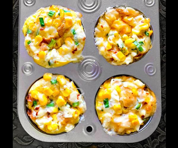 sweet corn breakfast muffins cups