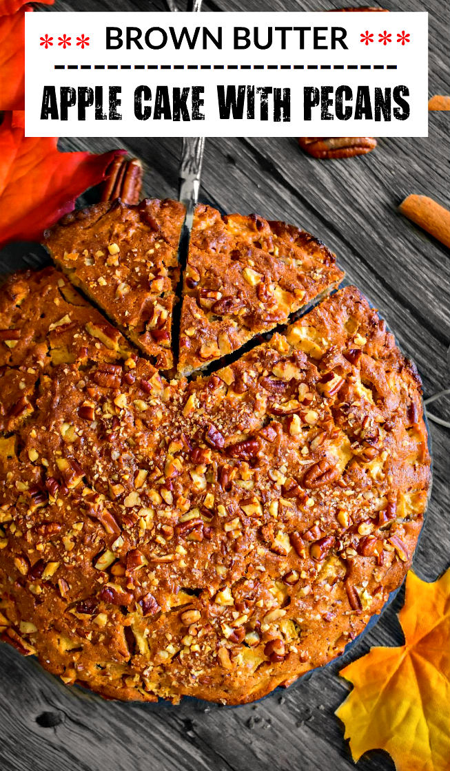 Brown Butter Apple Cake Recipe with Pecans