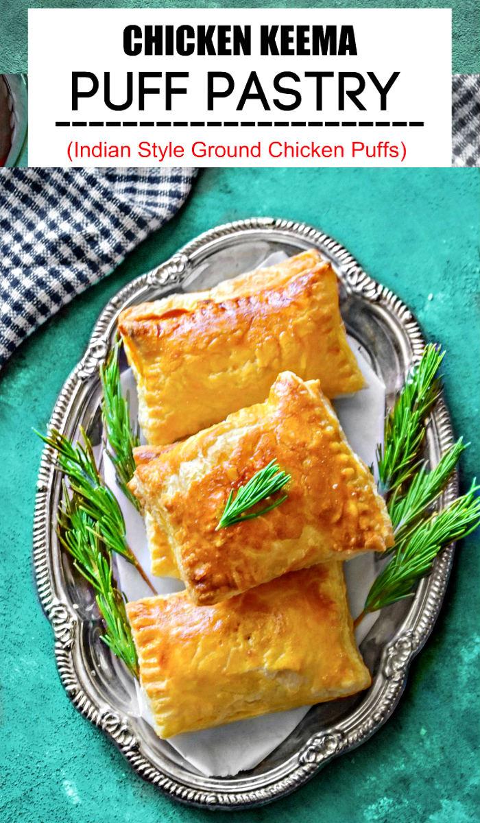 Chicken Keema Puff Pastry Recipe