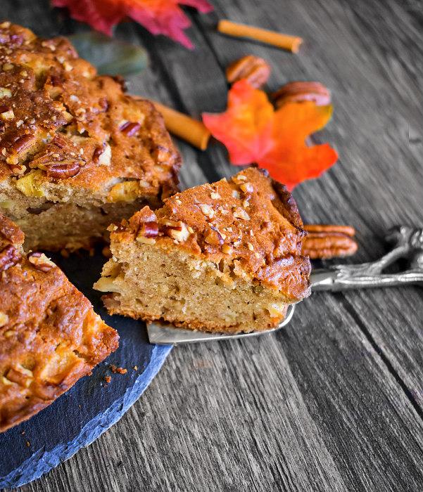 easy apple pecan cake