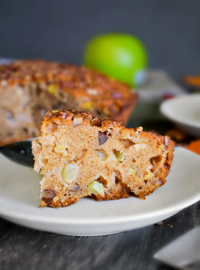 easy brown butter apple cake