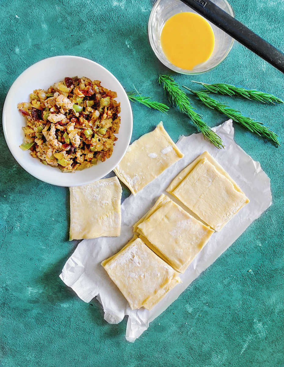 how to make indian keema puff pastry