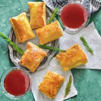 Indian chicken keema puff pastry