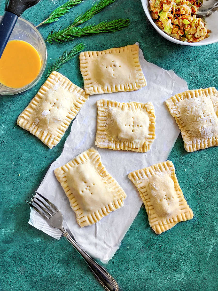 indian keema puff pastry