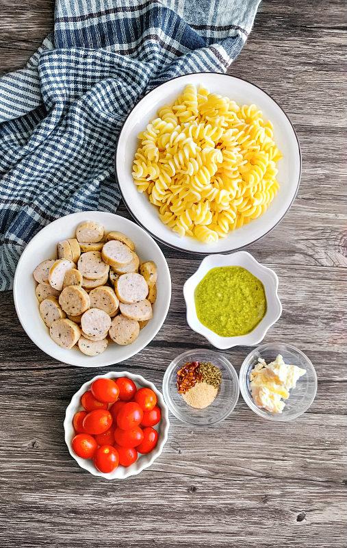 pesto sausage pasta ingredients