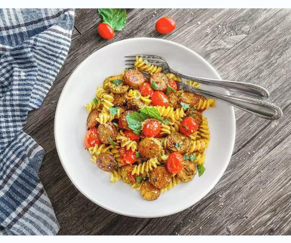 pesto sausage pasta recipe-1